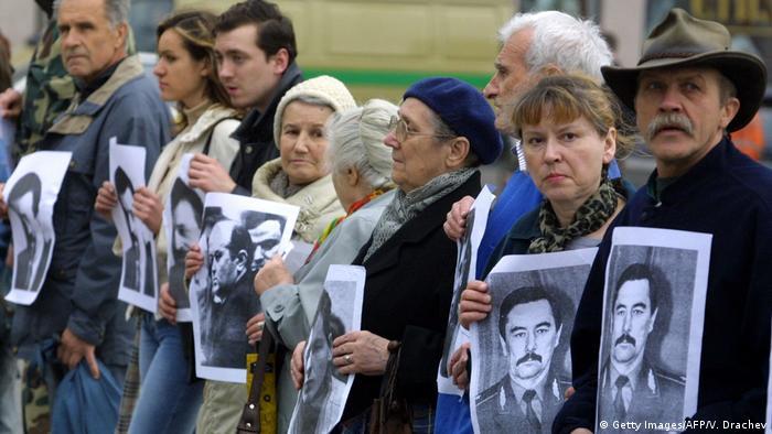 Акция памяти пропавших без вести оппозиционеров, Минск (фото из архива)