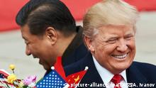 BEIJING, CHINA - NOVEMBER 9, 2017: China's President Xi Jinping (L) and US President Donald Trump during a meeting outside the Great Hall of the People in Beijing. Artyom Ivanov/TASS Foto: Artyom Ivanov/TASS/dpa |