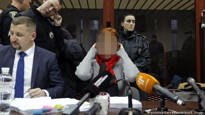 Юлія Кузьменко під час судового засідання, грудень 2019 року