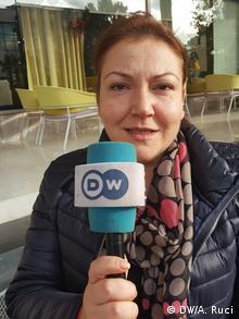 Albanien Medien | Kristina Voko, Direktorin BIRN (DW/A. Ruci)