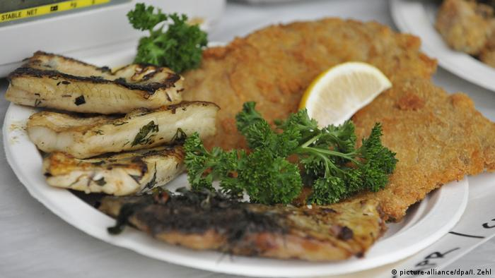 Traditional Czech carp meal