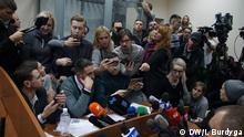 Während des Prozesses Fotograf: DW Korrespondent in der Ukraine, Igor Burdyga