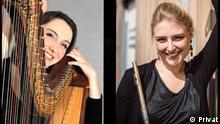Pressebild Beethoven bei uns | Musikerinnen Jennifer Seubel und Johanna Single