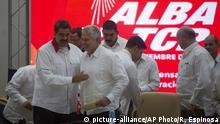 Dec. 14, 2019*** Venezuela's President Nicolas Maduro embraces Cuba's President Miguel Diaz-Canel after the closure of the Bolivarian Alliance for the Peoples of Our America, ALBA, summit in Havana, Cuba, Saturday, Dec. 14, 2019. (AP Photo/Ramon Espinosa)