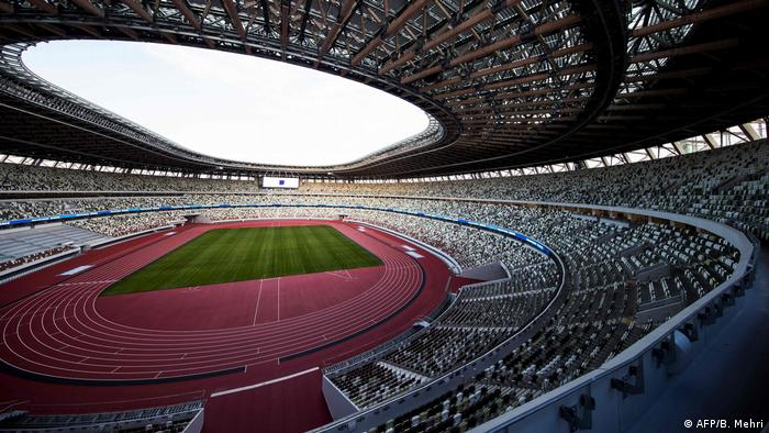 The National Stadium, a venue for the upcoming Tokyo 2020 Olympic games