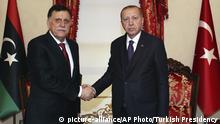 Türkei Istanbul | Libyens Premierminister al-Sarraj trifft Erdogan