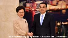 China Carrie Lam und Li Keqiang in Peking