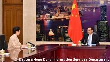 China Carrie Lam und Li Keqiang in Peking