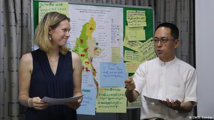DW Akademie Faktencheck Workshop in Myanmar 2019 (DW/S. Sandar)