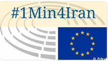 Logo- Schweigeminute für den Iran