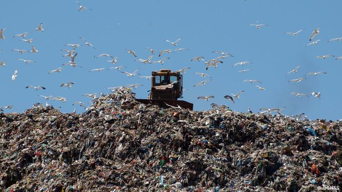 Munte de gunoi în Bulgaria