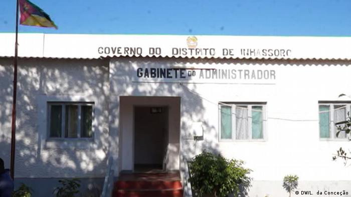 Mosambik, Inhambane: Inhassoro Regierungsgebäude
