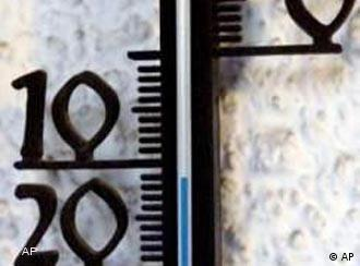 A thermometer showing minus 11 degrees Celsius