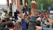 Indien Neu Delhi   Protest von Jamia Milia Islamia-Studenten gegen Staatsbürgerschaftsgesetz, CAB, CAA