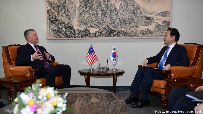 US envoy Stephen Biegun met with several members of President Moon Jae-In's leadership, including Lee Do-Hoon (pictured), the special representative for Korean Peninsula Peace and Security Affairs