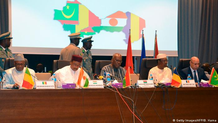 Niger Niamey | G5-Sahelgipfel | Keïta & Issoufou &Kaboré & Déby & Ghazouani (Getty Images/AFP/B. Hama)