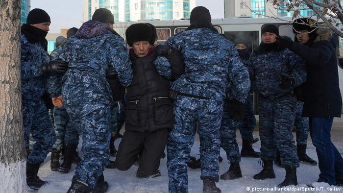 Задержания в Казахстане (фото из архива)