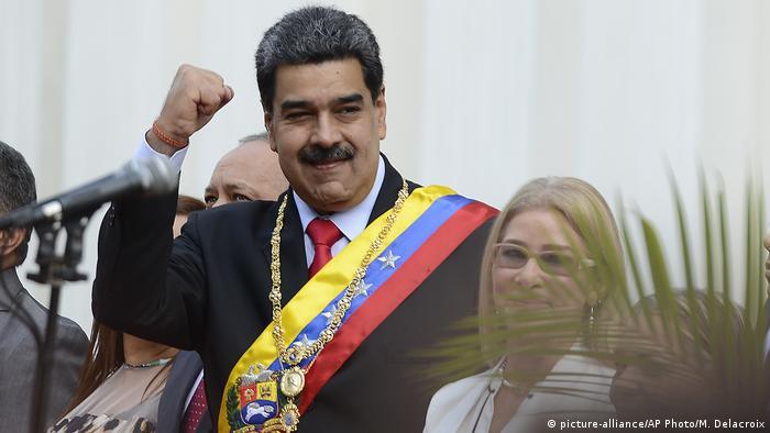 Nicolas Maduro during a political event in Caracas