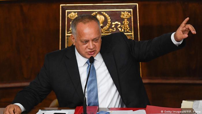 Venezuela Parlament Haushaltsdebatte Diosdado Cabello (Getty Images/AFP/F. Parra)