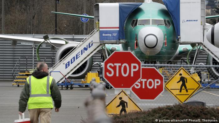 Boeing 737 MAX on the tarmac (picture-alliance/AP Photo/E. Thompson)