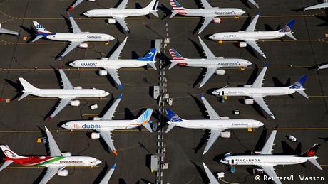 Boeing 737 MAX am Boden