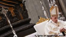 Papst Franziskus Messe für Jungfrau von Guadalupe