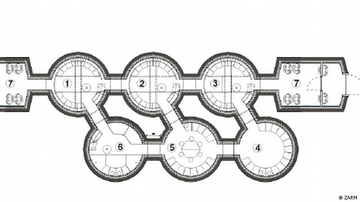 The architectural plan of the MaMBA Habitats