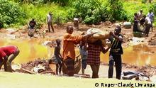 Kongo Kinder arbeiten in den Minen von Katanga