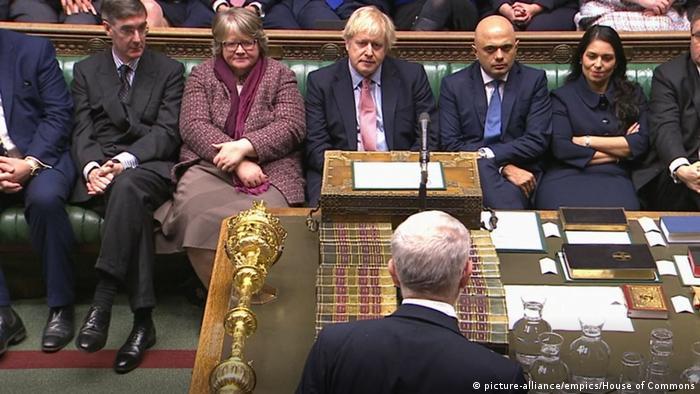 Großbritannien London   Erste Parlamentssitzung nach Unterhauswahl - Jeremy Corbyn (picture-alliance/empics/House of Commons)