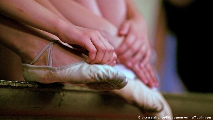 Stock image of students at a ballet school
