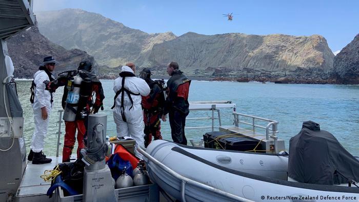 Operación de rescate en el Whakaari, Nueva Zelanda. (13.12.2019).