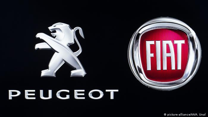 Peugeot and Fiat logos