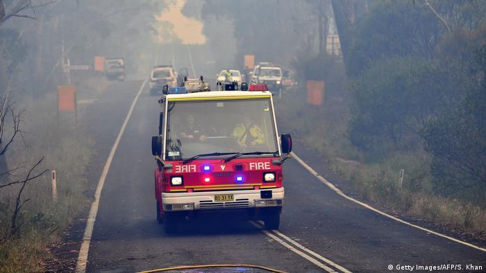 Fire truck om Australia