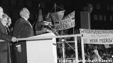 Bundeskanzler Helmut Kohl in Dresden 1989