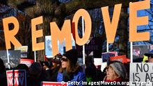WASHINGTON, DC - DECEMBER 18: Activists attend an Impeach and Remove rally at the U.S. Capitol on December 18, 2019 in Washington, DC. (Photo by Larry French/Getty Images for MoveOn.org)