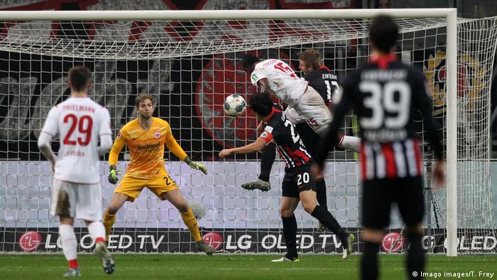 Jhon Cordoba header against Eintracht Frankfurt
