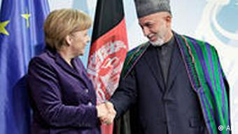 Merkel and Karzai in Berlin