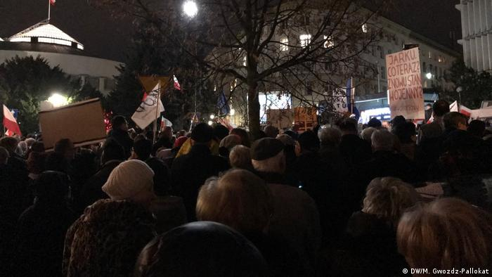 Polen Protest (DW/M. Gwozdz-Pallokat)