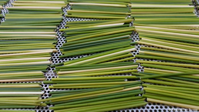 Straws laid out to dry (Reuters/Yen Duong)