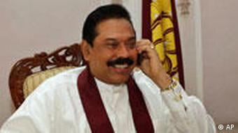 Präsident Mahinda Rajapaksa