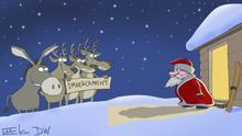 DW Karikatur Sergey Elkin | USA Trump Impeachment