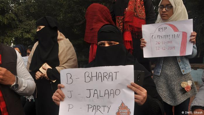 Indien Protest gegen neues Einbürgerungsgesetz
