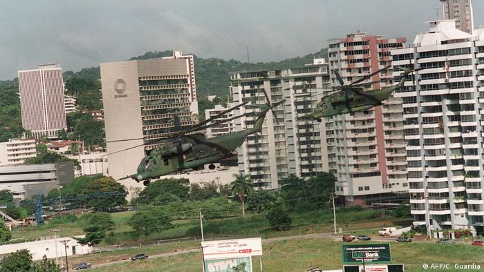 BG US-Invasion in Panama 1989 | US Helikopter (AFP/C. Guardia)
