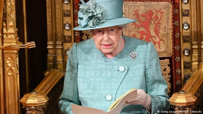 Королева Елизавета II в британском парламенте