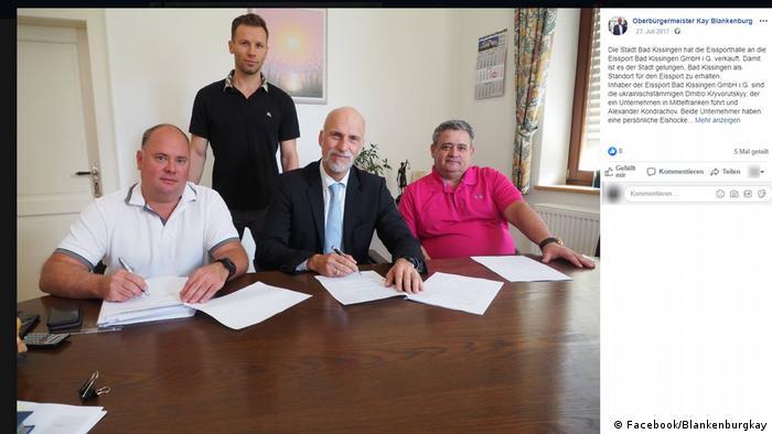 Липень 2017 року. Олександр Кондрашов підписує документи про купівлю льодової арени з мером Бад Кіссінгена Каєм Бланкенбургом. Чого мер не знає: за лічені тижні до того, Кондрашова оголосили у розшук