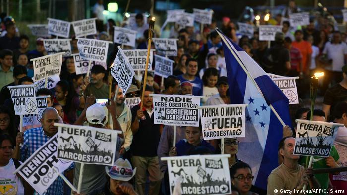 Honduras Proteste gegen Präsident Juan Orlando Hernandez