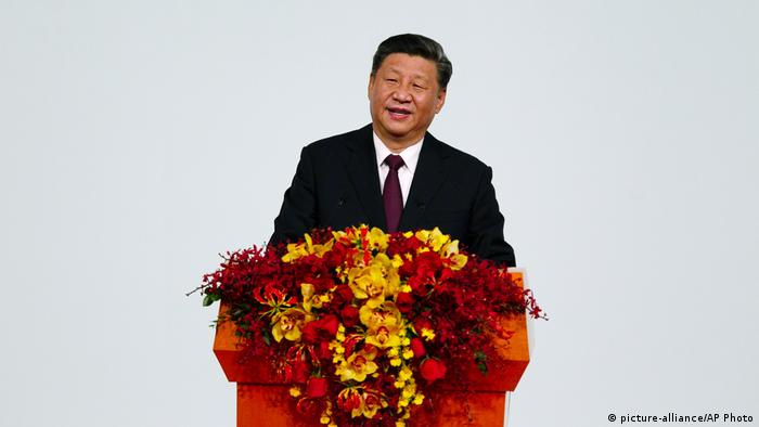 Chinese President Xi Jinping speaks during the inauguration ceremony in Macao