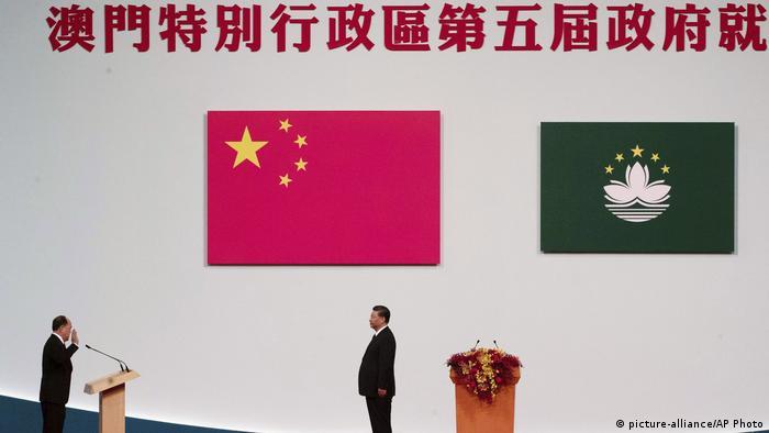 Chinesischer Präsident Xi Jinping zur Besuch in Macau (picture-alliance/AP Photo)
