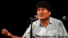 Bolivia's ex-President Evo Morales gestures during a press conference in Buenos Aires, on December 19, 2019. - Bolivia's attorney general on Wednesday ordered the arrest of exiled former president Evo Morales after the interim government accused him of sedition and terrorism. (Photo by RONALDO SCHEMIDT / AFP) (Photo by RONALDO SCHEMIDT/AFP via Getty Images)