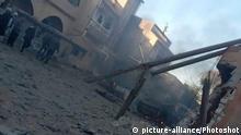 Libyen Kämpfe   Zerstörung nach Luftangriff